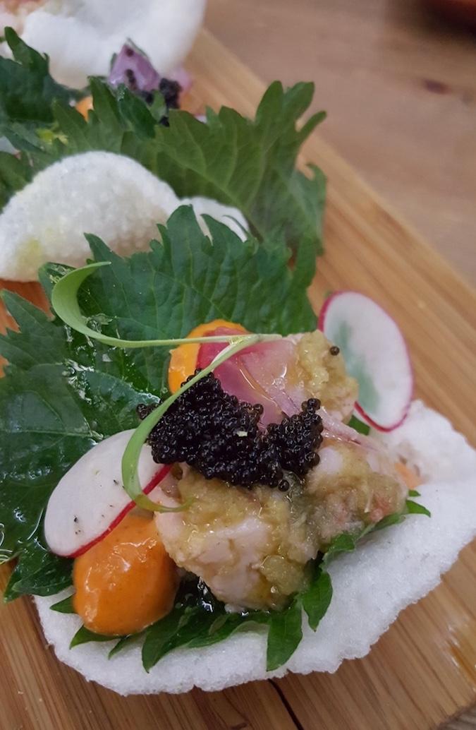 Lúbora (Ceviche de gambón)