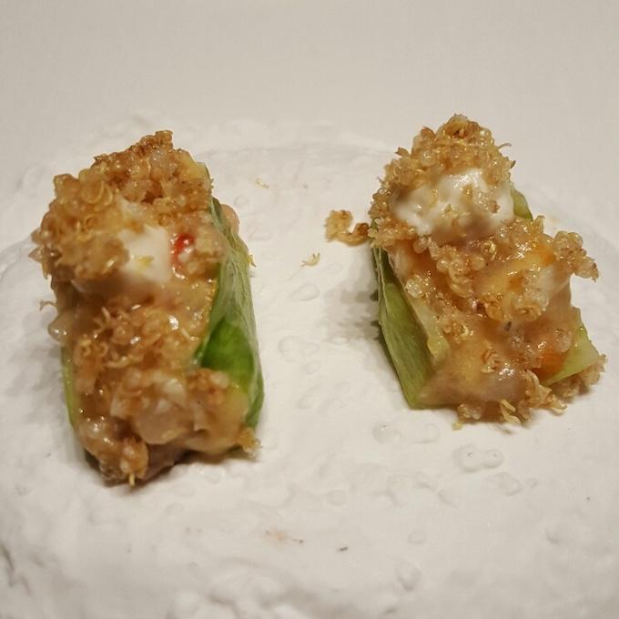 Ricard Camarena Restaurant (Lechuga y ensaladilla rusa de corvina)