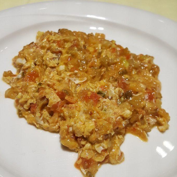 Tamara (Pisto de verduras con huevo revuelto)