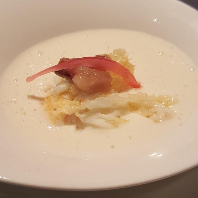 Viavélez(Infusión de bacon, huevo de codorniz y sardina ahumada