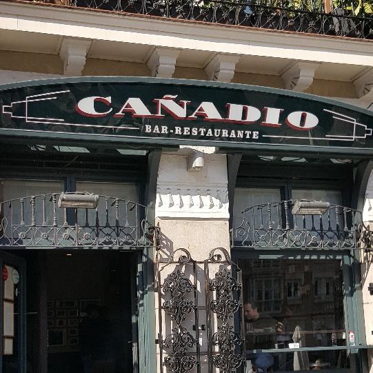 Cañadio Santander (Entrada al local)