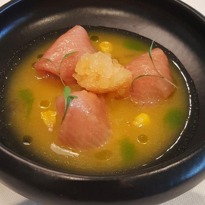 Solana (Melón con jamón de mar)