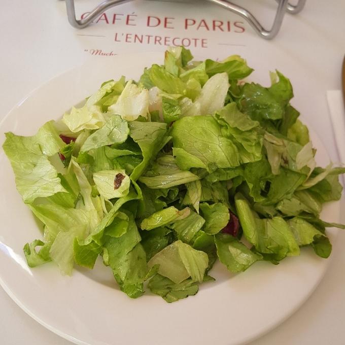 Café de Paris (Ensalada de lechugas)